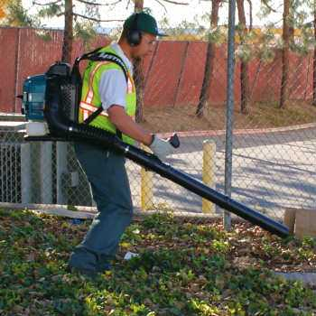 Makita BBX7600N Backpack Blower in Use