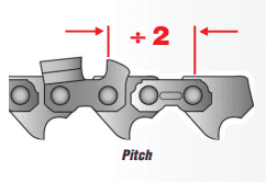 Chainsaw Chain Size - Pitch