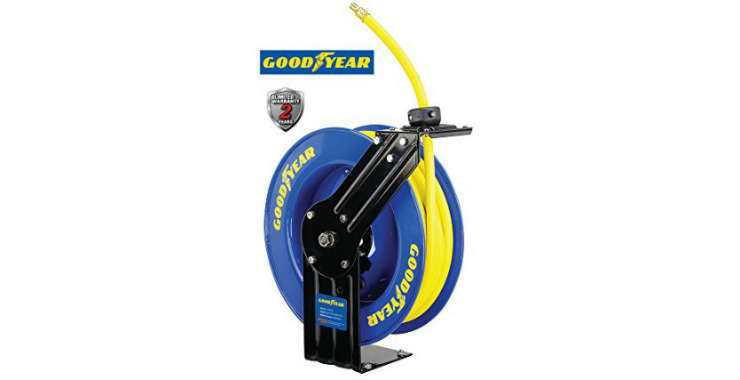 Goodyear Steel Retractable Air and Water Hose Reel
