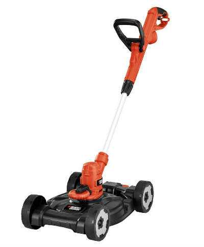 Black and Decker Electric Lawn Mower and Trimmer