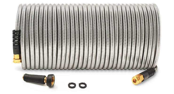 Cesun Metal Garden Hose with 304 Stainless Steel