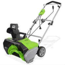 Greenworks Corded Snow Thrower With Light Kit