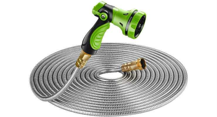 BEAULIFE New 304 Stainless Steel Metal Garden Hose