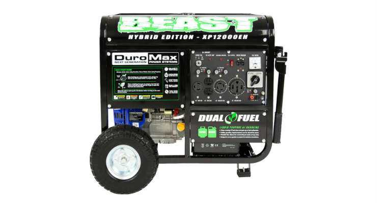 Duromax Dual Fuel Portable Generator XP12000EH 12000 Watts